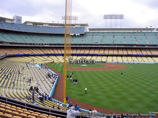Seat view from loge box section 168 at Dodger Stadium, home of the Los Angeles Dodgers
