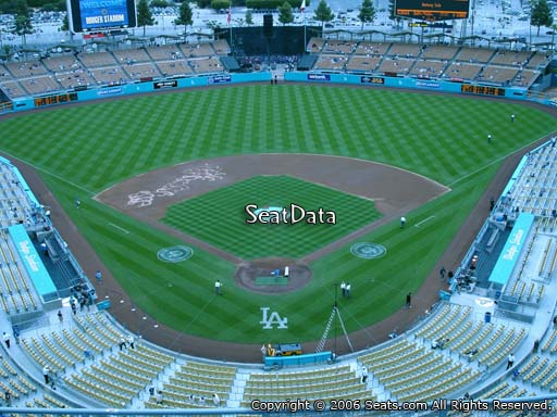 Seat view from top deck section 1 at Dodger Stadium, home of the Los Angeles Dodgers