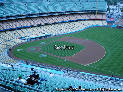 Seat view from reserve section 26 at Dodger Stadium, home of the Los Angeles Dodgers