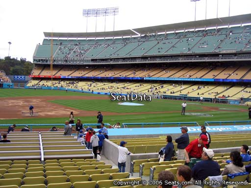 Seat view from club section 27 at Dodger Stadium, home of the Los Angeles Dodgers