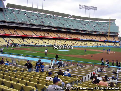 Seat view from club section 28 at Dodger Stadium, home of the Los Angeles Dodgers