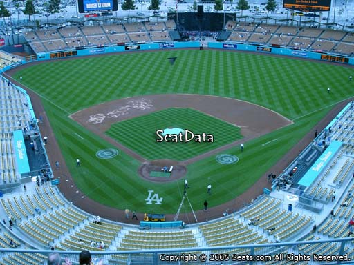 Seat view from top deck section 2 at Dodger Stadium, home of the Los Angeles Dodgers
