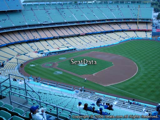 Seat view from reserve section 30 at Dodger Stadium, home of the Los Angeles Dodgers
