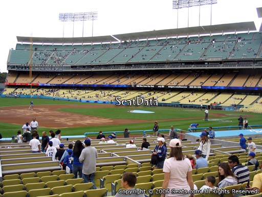 Seat view from club section 31 at Dodger Stadium, home of the Los Angeles Dodgers