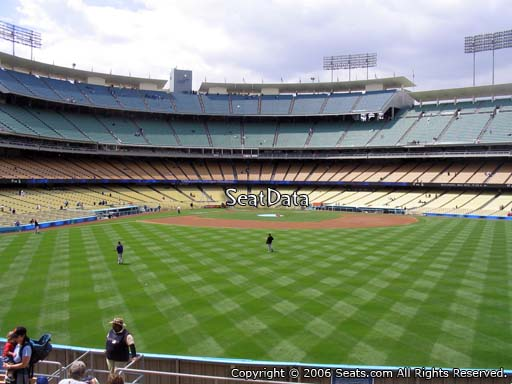 Seat view from right field pavilion section 310 at Dodger Stadium, home of the Los Angeles Dodgers