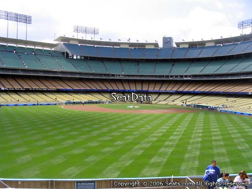 Seat view from left field pavilion section 311 at Dodger Stadium, home of the Los Angeles Dodgers