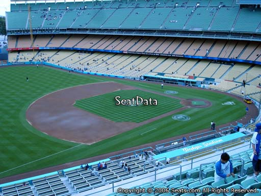 Seat view from reserve section 31 at Dodger Stadium, home of the Los Angeles Dodgers