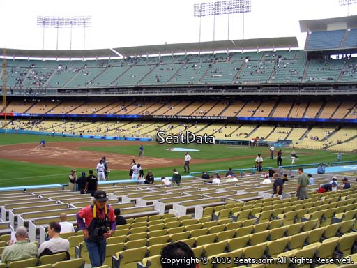 Seat view from club section 35 at Dodger Stadium, home of the Los Angeles Dodgers