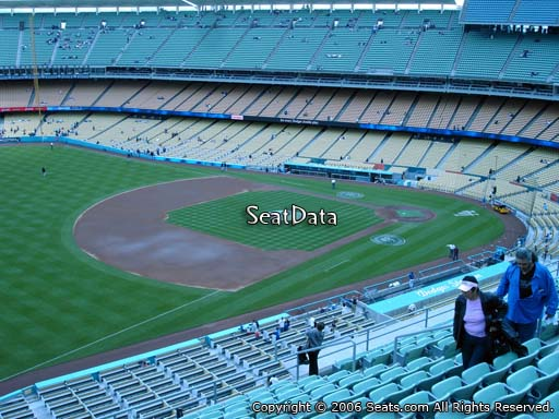 Seat view from reserve section 35 at Dodger Stadium, home of the Los Angeles Dodgers