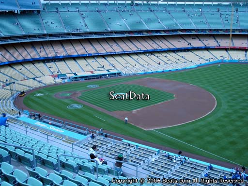 Seat view from reserve section 36 at Dodger Stadium, home of the Los Angeles Dodgers