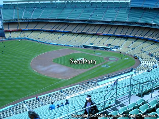 Seat view from reserve section 37 at Dodger Stadium, home of the Los Angeles Dodgers