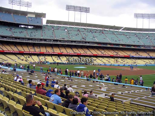Seat view from club section 38 at Dodger Stadium, home of the Los Angeles Dodgers