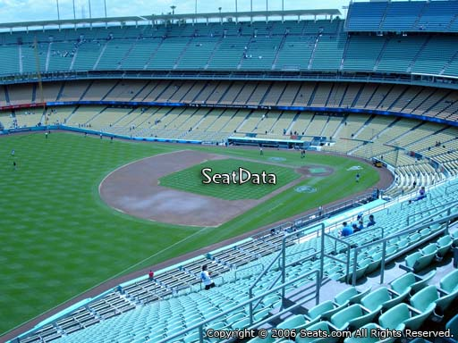 Seat view from reserve section 41 at Dodger Stadium, home of the Los Angeles Dodgers