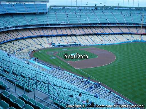 Seat view from reserve section 42 at Dodger Stadium, home of the Los Angeles Dodgers