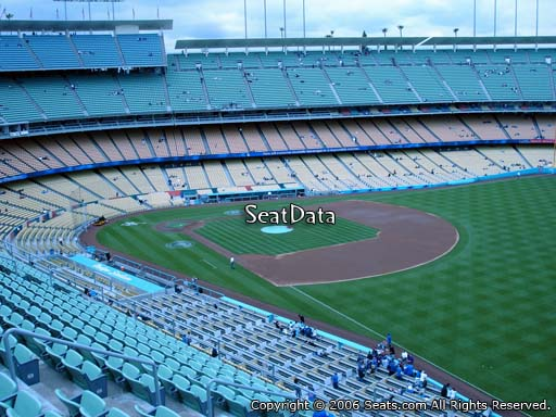 Seat view from reserve section 44 at Dodger Stadium, home of the Los Angeles Dodgers