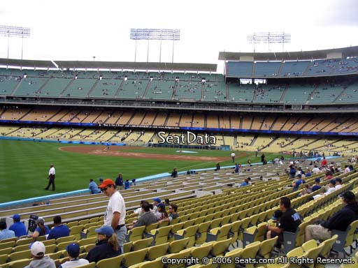 Seat view from field box section 47 at Dodger Stadium, home of the Los Angeles Dodgers