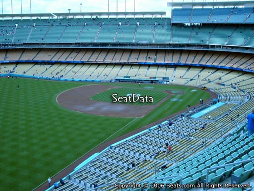 Seat view from reserve section 47 at Dodger Stadium, home of the Los Angeles Dodgers
