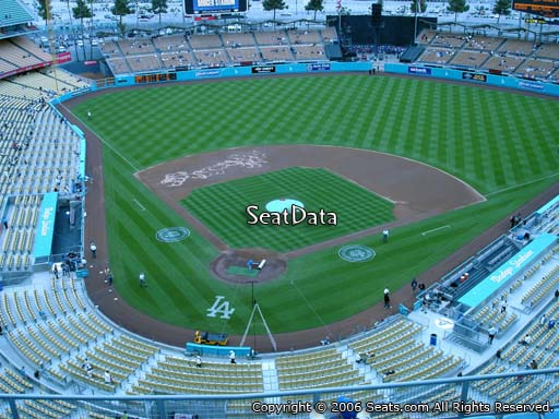Seat view from top deck section 4 at Dodger Stadium, home of the Los Angeles Dodgers