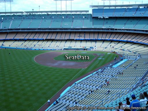 Seat view from reserve section 51 at Dodger Stadium, home of the Los Angeles Dodgers