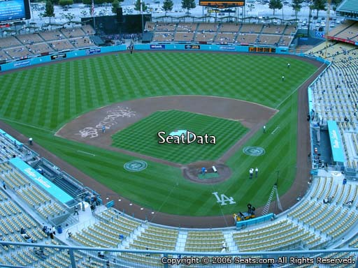 Seat view from top deck section 5 at Dodger Stadium, home of the Los Angeles Dodgers