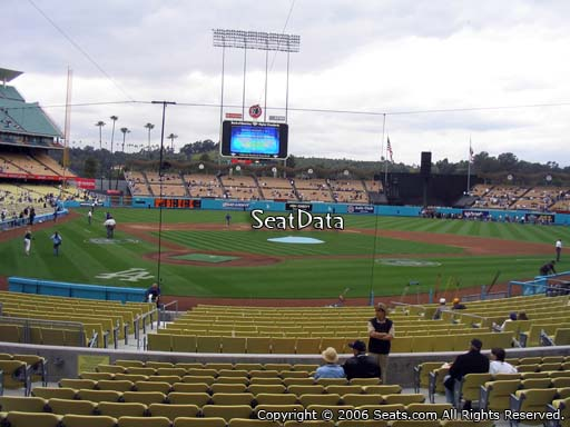 Seat view from field box section 6 at Dodger Stadium, home of the Los Angeles Dodgers