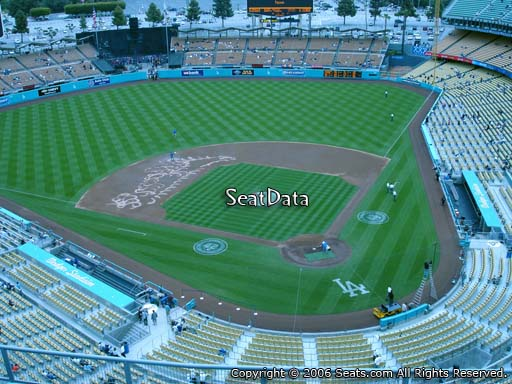 Seat view from top deck section 7 at Dodger Stadium, home of the Los Angeles Dodgers