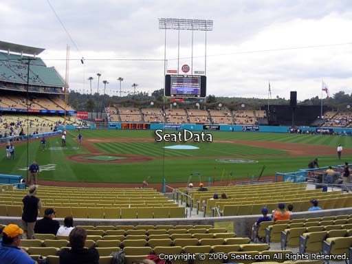 Seat view from field box section 8 at Dodger Stadium, home of the Los Angeles Dodgers