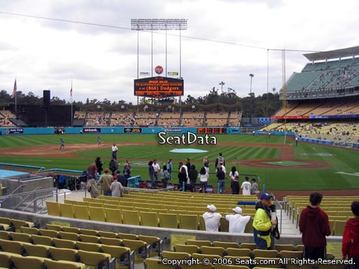 Seat view from field box section 9 at Dodger Stadium, home of the Los Angeles Dodgers