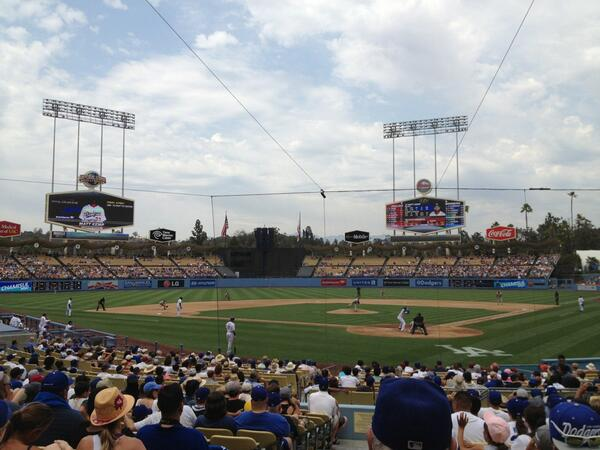 View from the Field Box Seats at Dodger Stadium