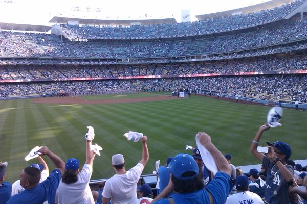 View from the Left Field Pavilion Seats at Dodger Stadium