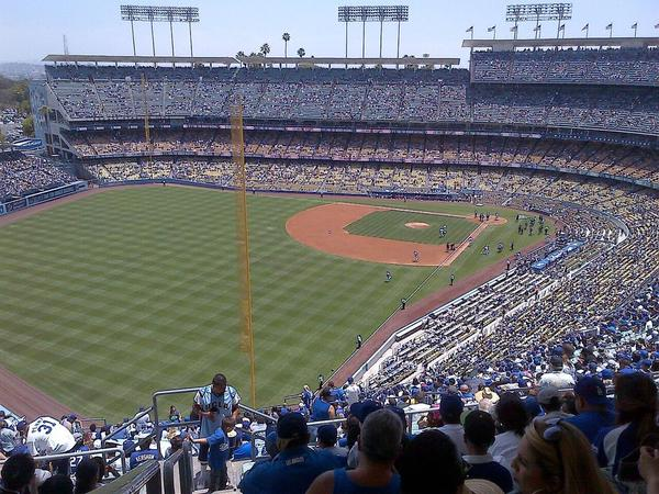 View from the Reserve Level at Dodger Stadium