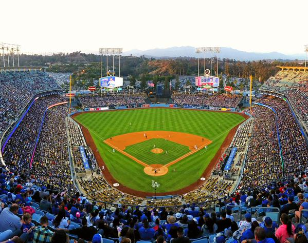 View from the Top Deck seats at Dodger Stadium