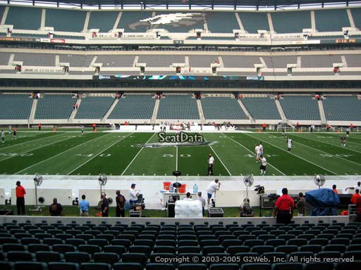 Seat view from section 101 at Lincoln Financial Field, home of the Philadelphia Eagles