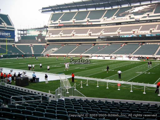 Seat view from section 104 at Lincoln Financial Field, home of the Philadelphia Eagles