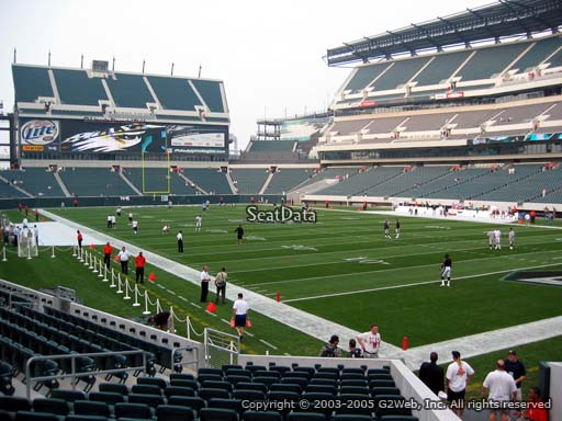 Seat view from section 107 at Lincoln Financial Field, home of the Philadelphia Eagles