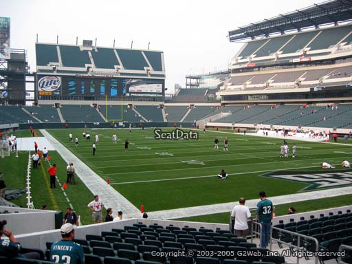 Seat view from section 108 at Lincoln Financial Field, home of the Philadelphia Eagles