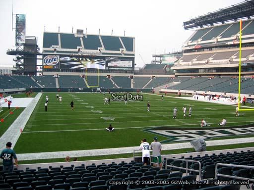 Seat view from section 109 at Lincoln Financial Field, home of the Philadelphia Eagles