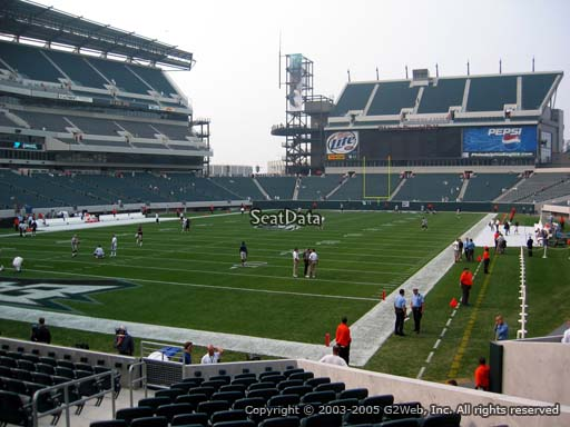 Seat view from section 113 at Lincoln Financial Field, home of the Philadelphia Eagles