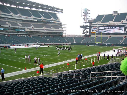 Seat view from section 115 at Lincoln Financial Field, home of the Philadelphia Eagles
