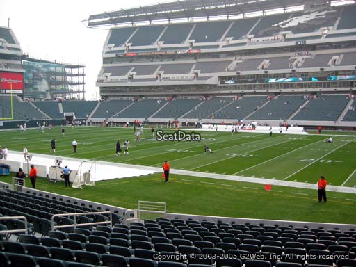 Seat view from section 123 at Lincoln Financial Field, home of the Philadelphia Eagles