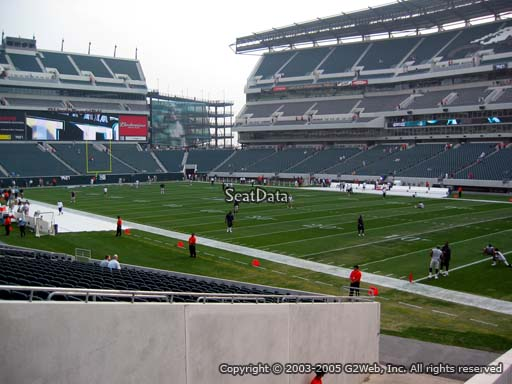 Seat view from section 125 at Lincoln Financial Field, home of the Philadelphia Eagles