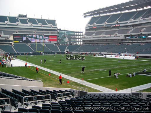 Seat view from section 126 at Lincoln Financial Field, home of the Philadelphia Eagles