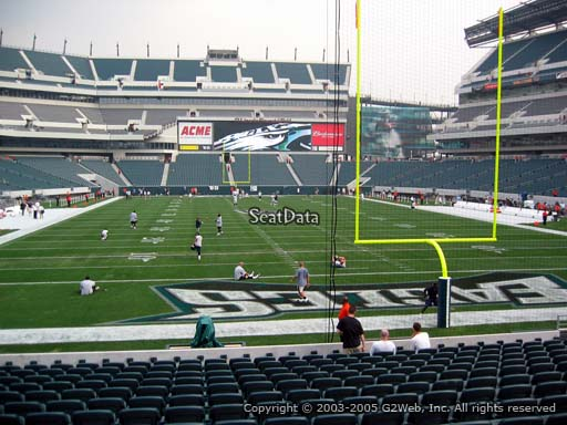 Seat view from section 129 at Lincoln Financial Field, home of the Philadelphia Eagles