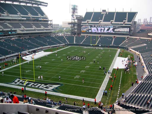 Seat view from club section 13 at Lincoln Financial Field, home of the Philadelphia Eagles