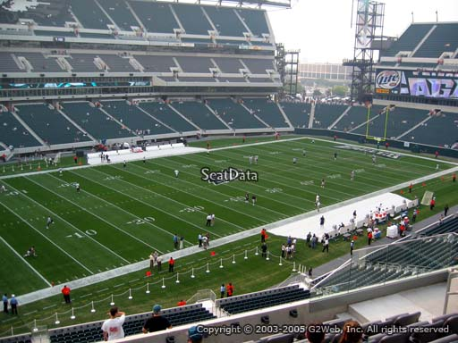 Seat view from club section 17 at Lincoln Financial Field, home of the Philadelphia Eagles