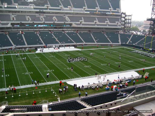 Seat view from club section 19 at Lincoln Financial Field, home of the Philadelphia Eagles