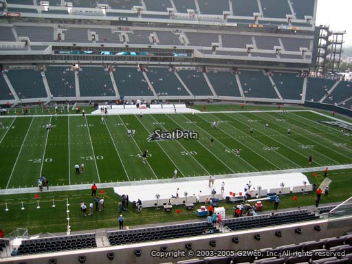 Seat view from club section 20 at Lincoln Financial Field, home of the Philadelphia Eagles