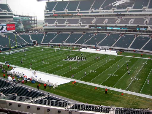 Seat view from club section 25 at Lincoln Financial Field, home of the Philadelphia Eagles