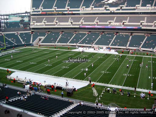 Seat view from club section 3 at Lincoln Financial Field, home of the Philadelphia Eagles