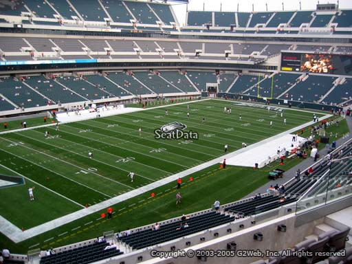 Seat view from club section 35 at Lincoln Financial Field, home of the Philadelphia Eagles